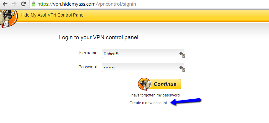 hma vpn pro username and password