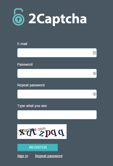 Creating and using 2captcha account, at this moment 2captcha is the